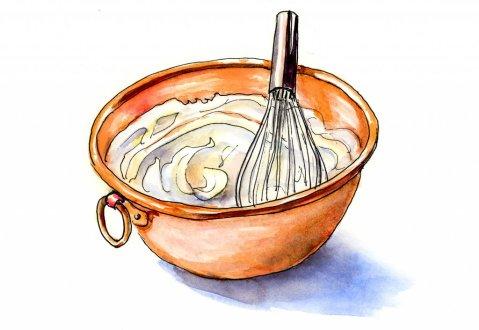 Copper Bowl Whipped Cream Illustration - Doodlewash