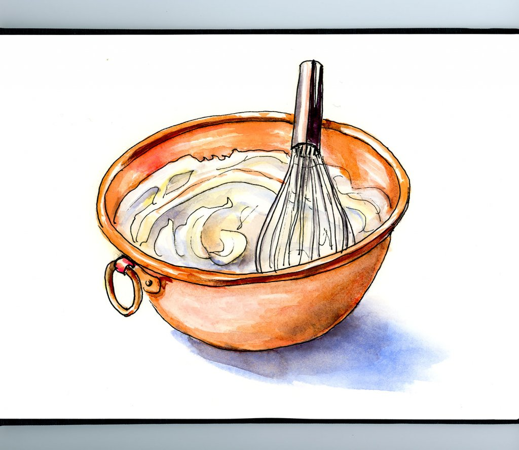 Day 19 - Copper Bowl Whipped Cream Illustration_IG