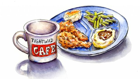 Tightwad Cafe Diner Food Illustration - Doodlewash