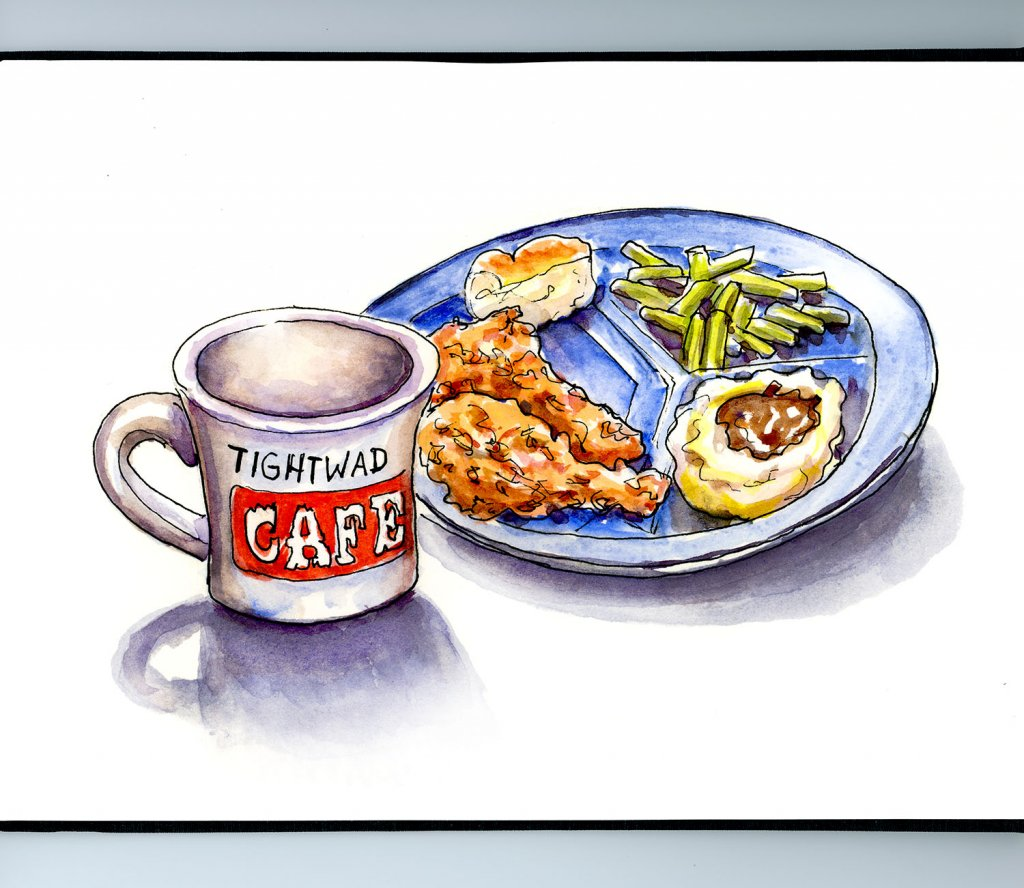 Day 20 - Diner Food Tightwad Cafe Illustration_IG