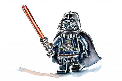 Lego Star Wars Minifigure Illustration - Doodlewash