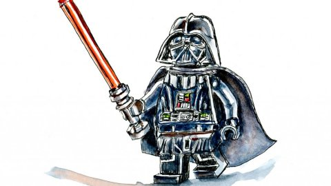 Lego Star Wars Minifigure Illustration - Doodlewash