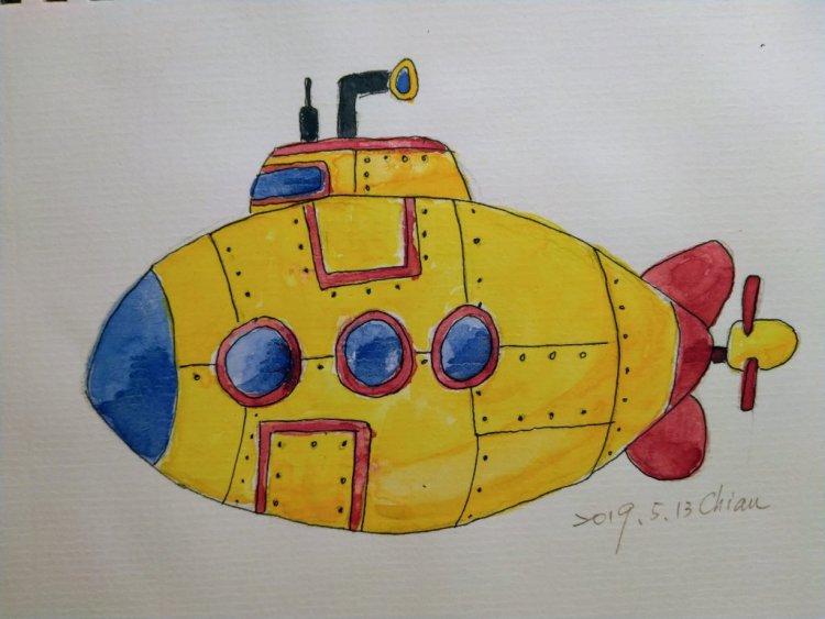 "Yellow Submarine:For today's prompt ""Yellow Submarine"" IMG_20190513_203830"