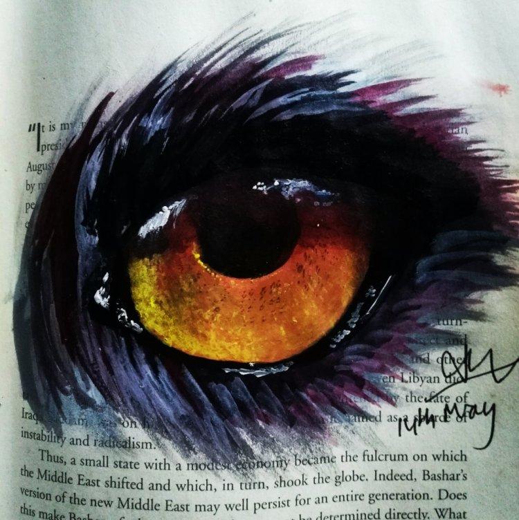 Floating in the depth of the Eye #YellowSubmarine #copiedEyeTutorial IMG_20190514_180831