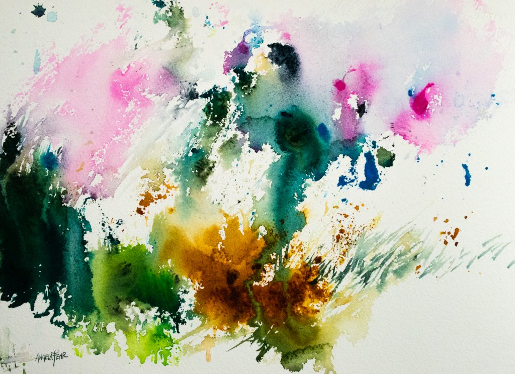 abstract art watercolor painting example by Angela Fehr