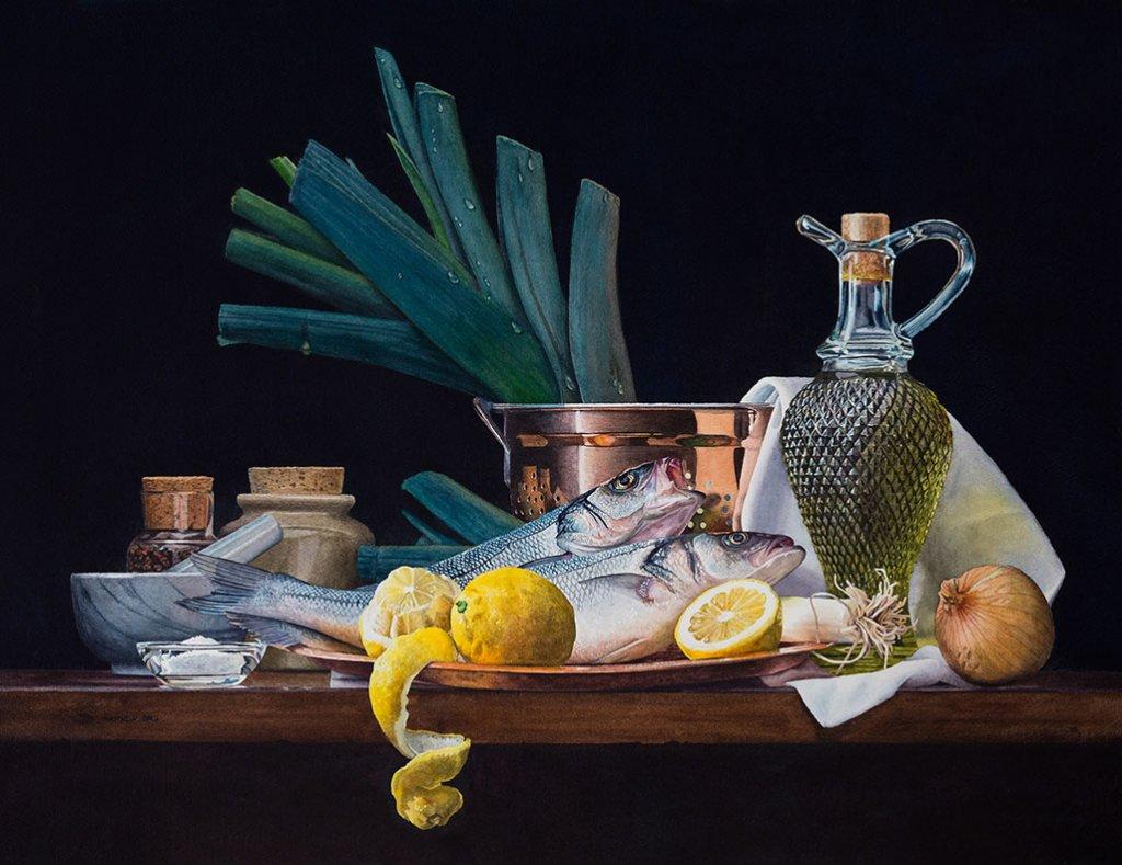 Still Life Realistic Watercolor Painting - Doodlewash