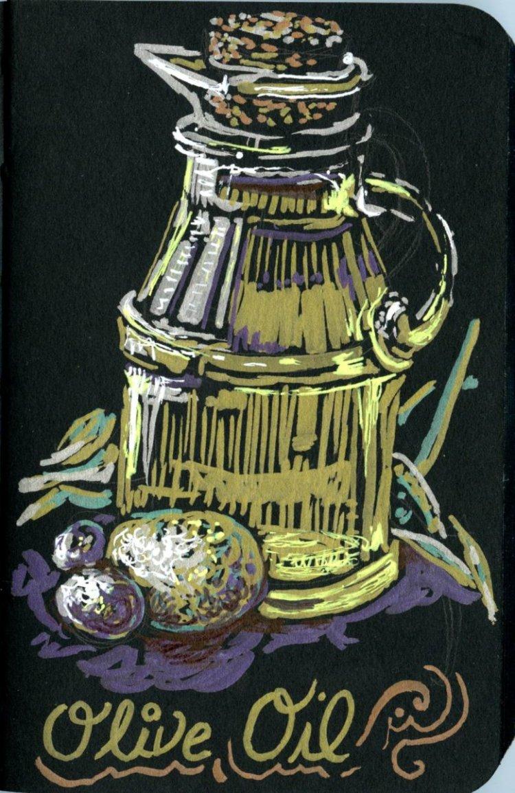 Olive Oil-Zebra Pen Metallic Brush Pen, Fluorescent Yellow Gelly Roll pen & Uniball White Signo