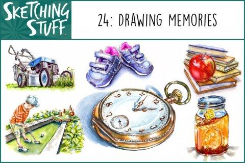 Sketching Stuff 24 Drawing Memories Artwork