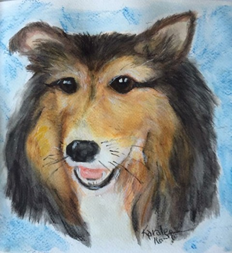 Dog Pet Portrait Watercolor by Karalee Hammes - Doodlewash