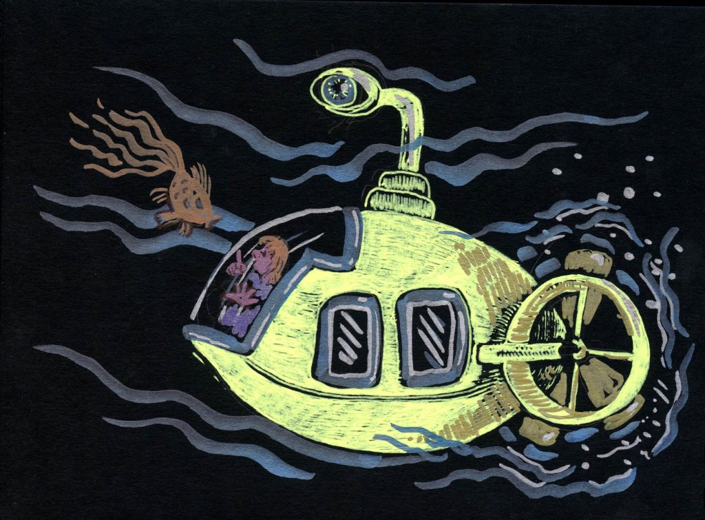 Yellow Submarine – I tried not to go too Peter Maxx or Heinz Edelman , but it's hard not