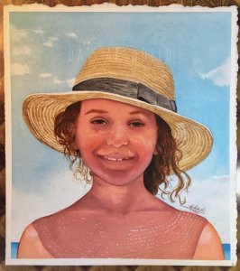 Finished this portrait of my niece! Challenging photo I choose but was fun painting until I overwork