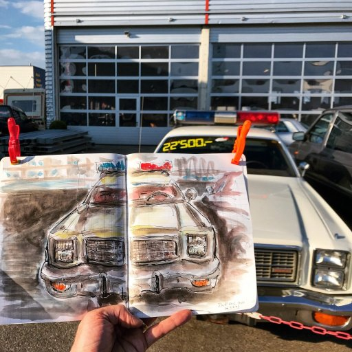 One of my favorite sketches from the last completed sketchbook and a car. 433B9F2C-6528-4DAD-A180-A4