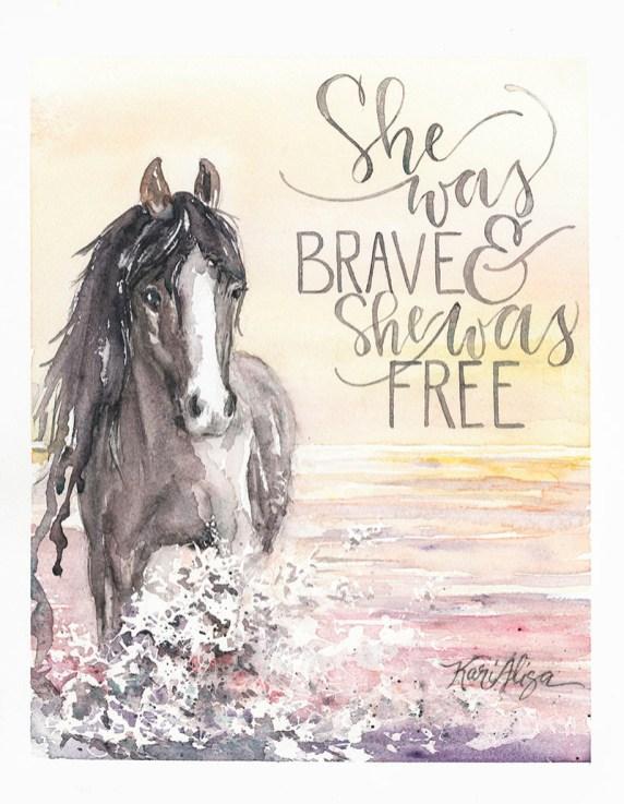 Horse Watercolor Painting by Kari Alisa Watson - Doodlewash