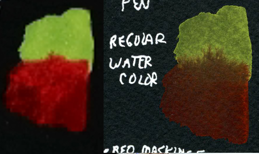 Black paper watercolor comparison