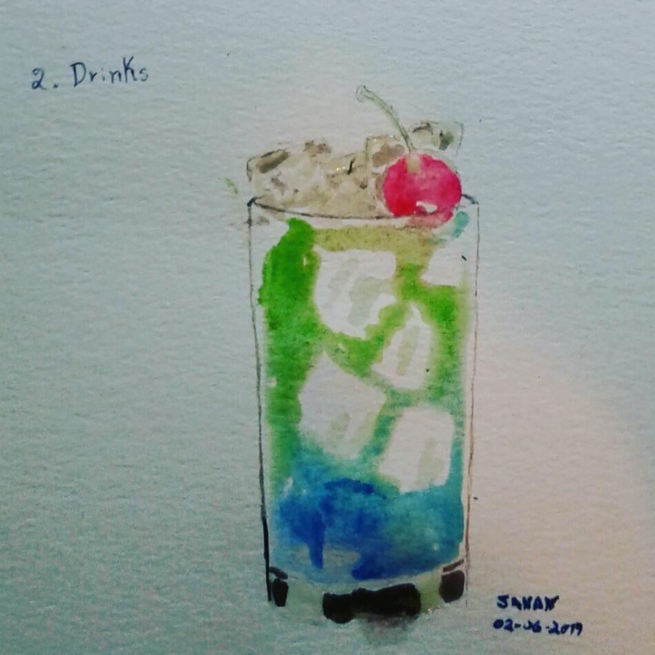 Dia 2: Drinks #doodlewashjune2019 #worldwatercolorgroup #acuarela #rayatubetero #beteroecuador #arte