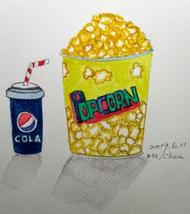 Popcorn and cola For day 11 prompt:Movies IMG_20190611_211908