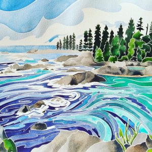 I Must Go Down To The Seas Again Daniel Smith watercolour on Fabriano Artistico, 11 x 14 IMG_2019062