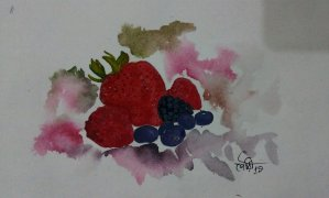 Day26 Berries #doodlewashJune2019 #WorldWatercolorGro IMG_20190626_211350~2