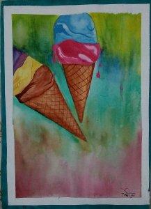 Day27 Ice #icecreamlovecon #doodlewashJune2019 #WorldWatercolorGro IMG_20190627_202132~2