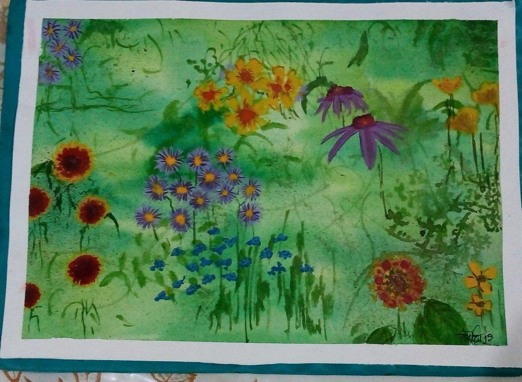 Day28 wildflowers #doodlewashJune2019 #WorldWatercolorGro IMG_20190628_200311~2