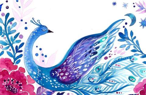 Bird Watercolor Painting by Irina Trzaskos - Doodlewash