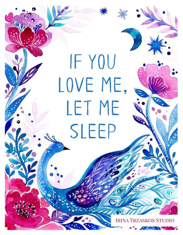 If You Love Me Watercolor Painting by Irina Trzaskos - Doodlewash