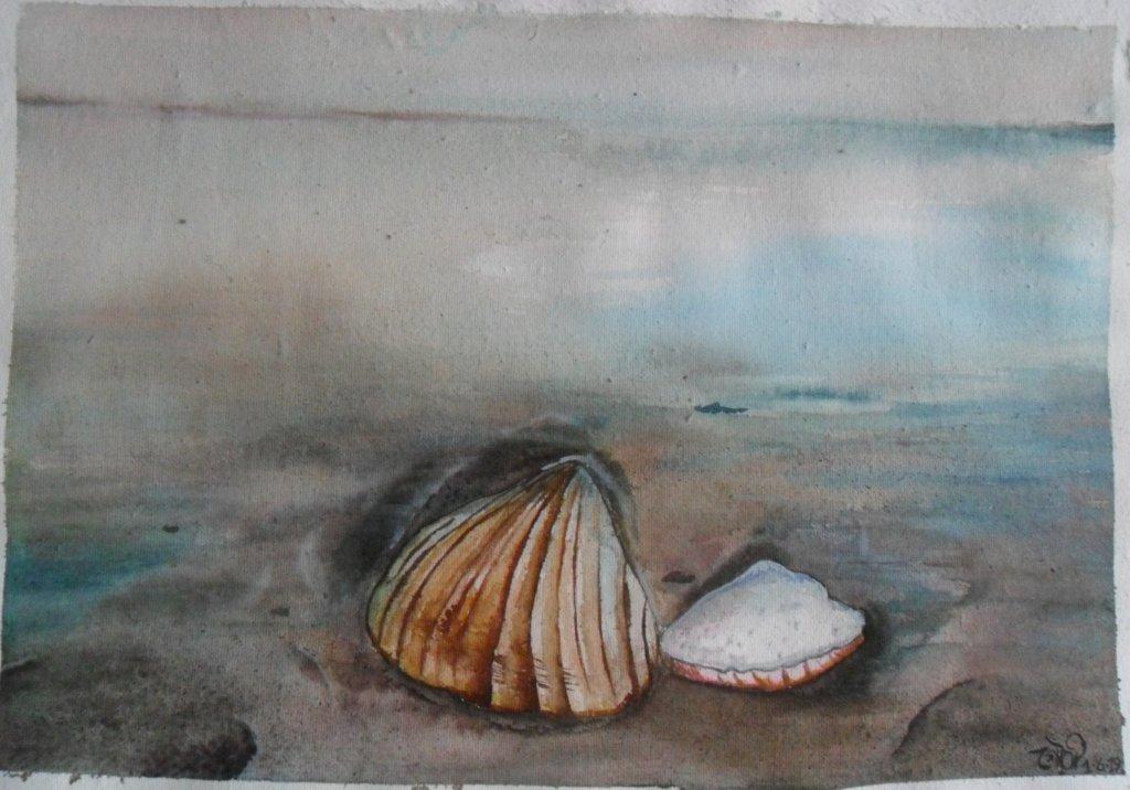 Day1 seashells #WorldWatercolorGroup #doodlewashJune2019 SAM_5241~2