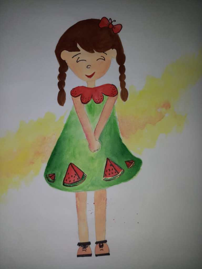 #Day13 #Watermelon #doodlewashjune2019 #worldwatercolorgroup watermelon