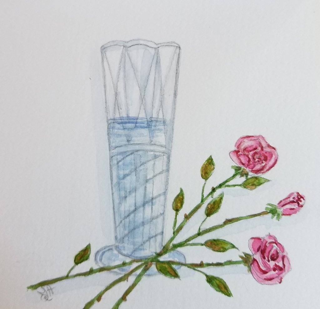 "Day 13 ""Glassy"" #WorldWatercolorMonth #WorldWatercolorGroup #doodlewash2019 #SketchingSt"
