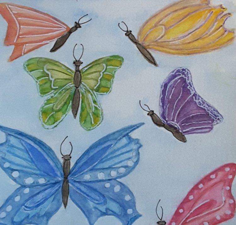 """Day 15 """"Monochromatic"""" #WorldWatercolorMonth #WorldWatercolorGroup #SketchingStuff2019 #"""