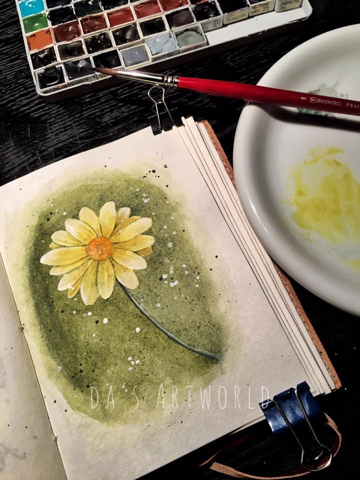 Another little flower in this handmade journal! Don't have time to do bigger projects at this time