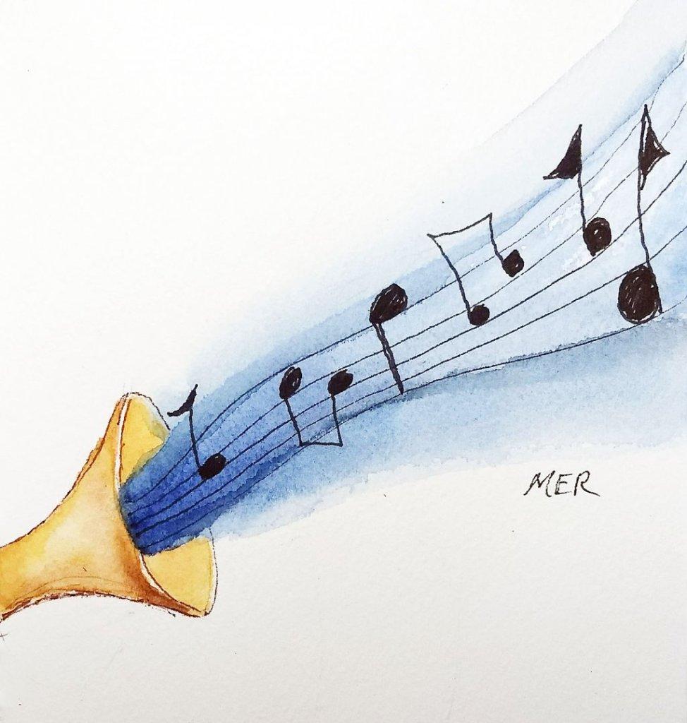 7/17/19 Music #worldwatercolormonth 7.17.19 Music img000