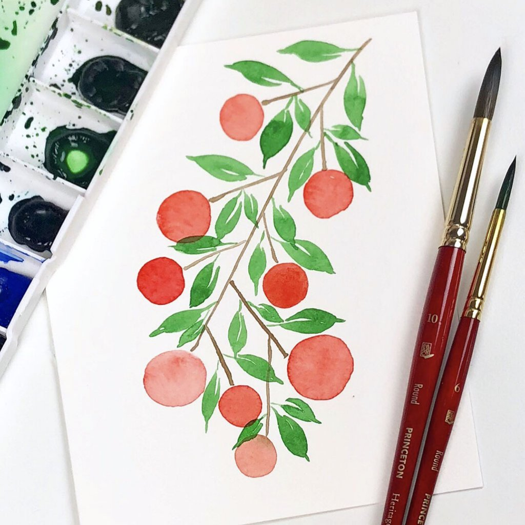 Nature - Shelly Kim Watercolor Lettering - Letters by Shell - Doodlewash