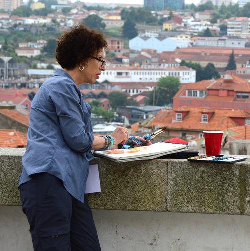 Photo of Shari Blaukopf Urban Sketching buildings