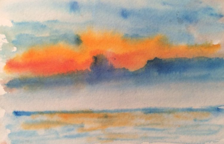 #worldwatercolormonth; day 18: Clouds IMG_0862