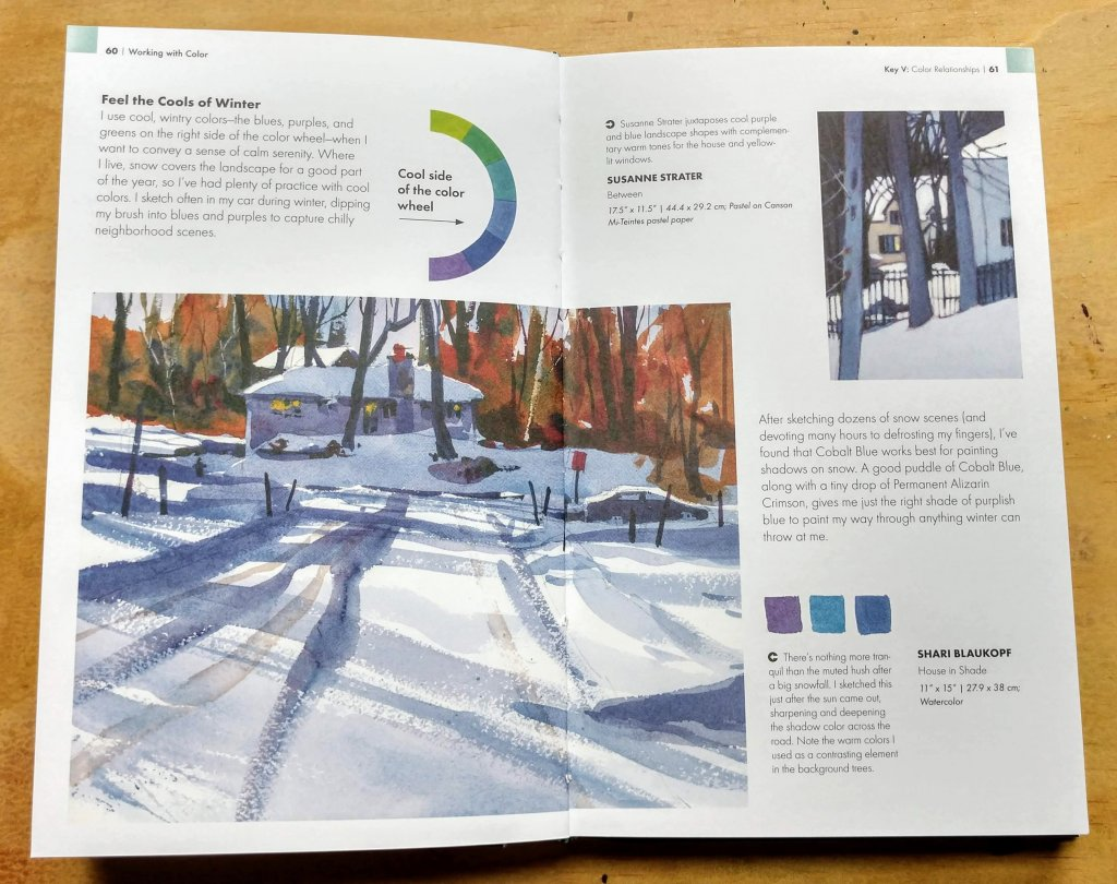 Working with cool colors for urban sketching in winter - Blaukopf