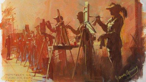 James Gurney Gouache Watercolor Plein Air Painting Monterey Feature