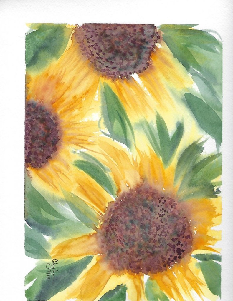 Inspired by Birgit O'Connor Loose Sunflower