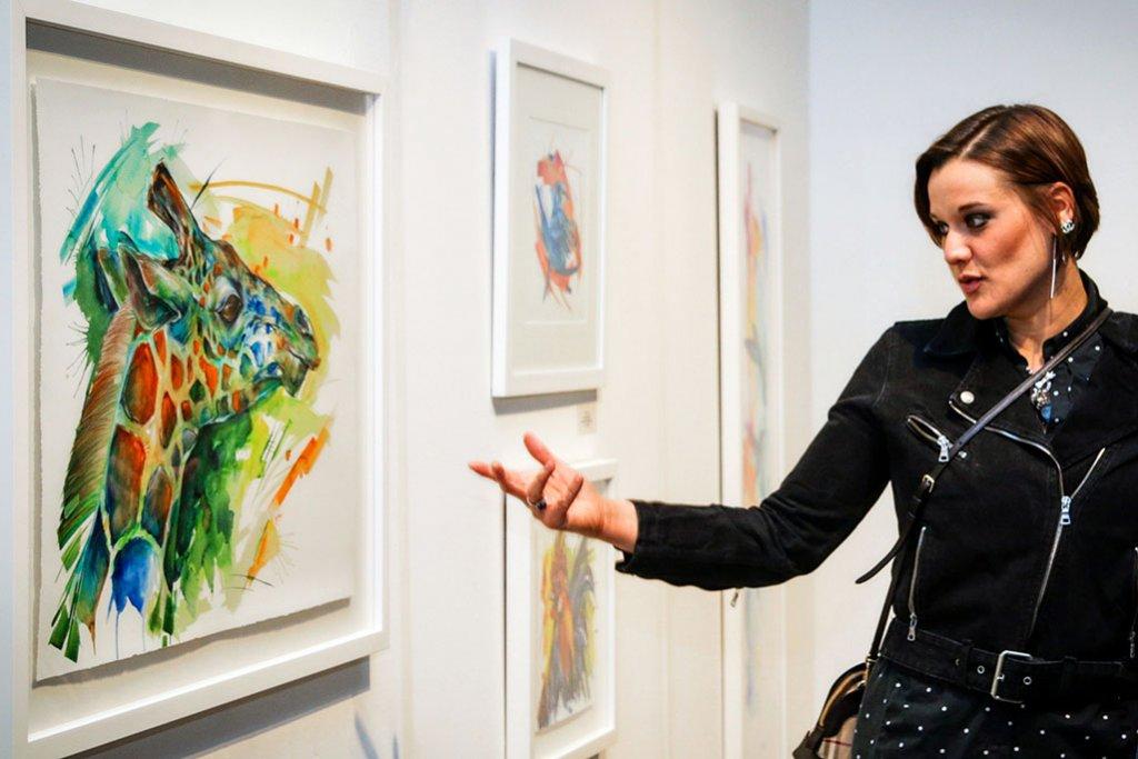 Sarah Janece Garcia sharing her art in gallery show