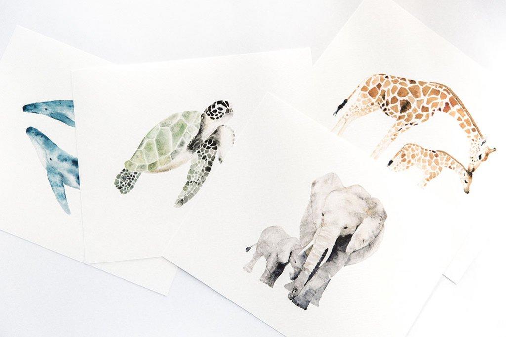 Watercolor Animals by Susan Chiang - Doodlewash