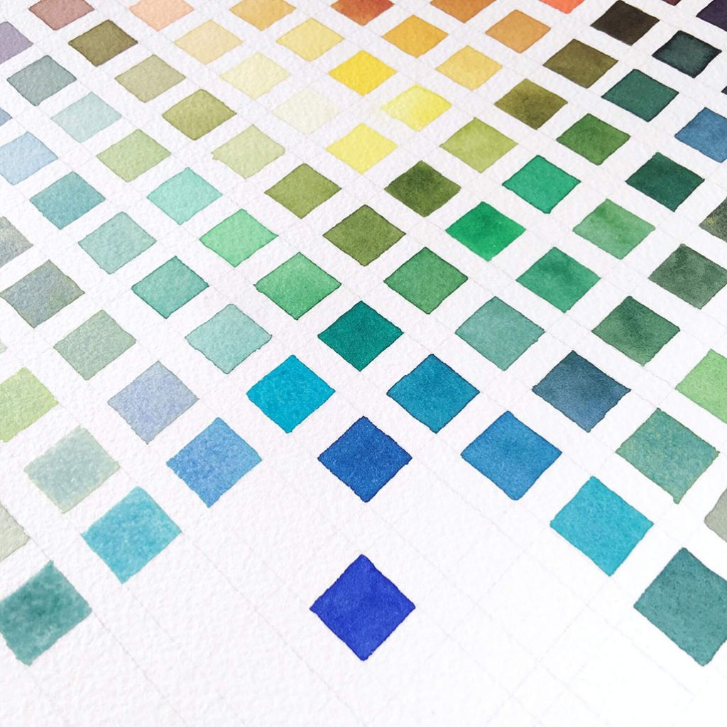 Water Color Mixing Chart by Susan Chiang - Doodlewash