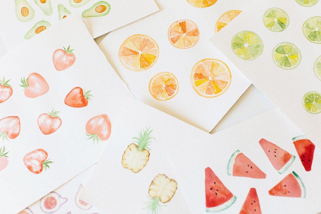 Watercolor Fruit by Susan Chiang - Doodlewash
