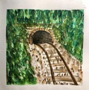 #doodlewashAugust2019 #TravelFun #WorldWatercolorGroup Day 22: Trains 110BA6C9-BADF-4447-94EA-C4CF56