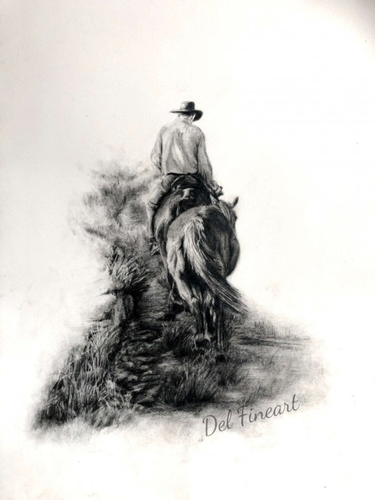 Mountain Trail Pencil drawing on watercolour paper. Drawn from my own reference photo. #Doodlewash A