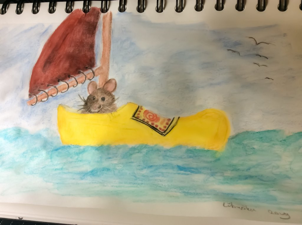 Wooden clog with a little sail (Dutch song) Prompt day #4 August 369C56CF-D9CE-4E92-93BF-45EDB654816