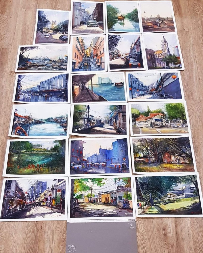 First batch(First finished watercolor block)of my Watercolor Journey 654EFAC2-E6AA-4F86-8C2B-04014CB