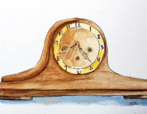 8/10/19 Clock This clock sat on the top of my grandmother's upright piano when I was a kid. No