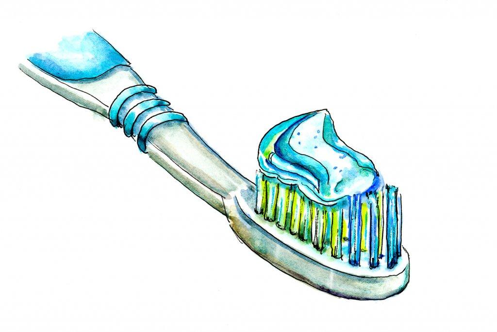 Toothbrush Toothpaste Illustration