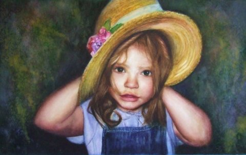 Destiny Young Girld Watercolor Painting Renee Marks