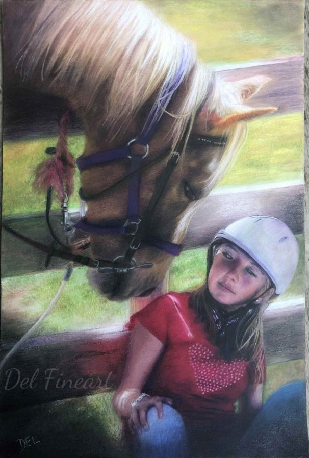 Diego Colored Pencil by Del Fineart